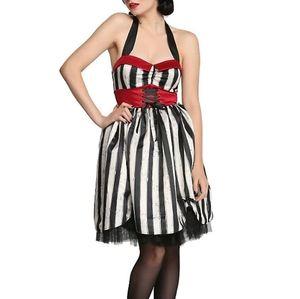 Vintage Retro Striped Dress